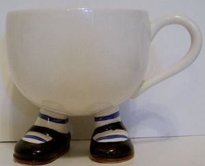 Carlton Ware Lustre Pottery  Walking Ware Cup - Black Shoes - SOLD